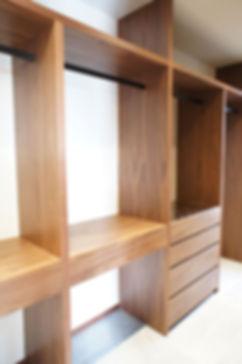 クローゼット収納,ウォールナット,オーダー家具