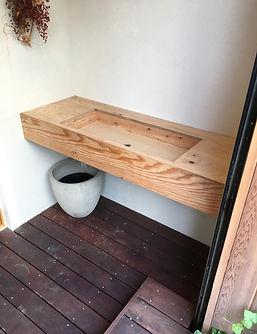 オーダー家具,モールテックス,MORTEX,無垢,水栓,手洗い