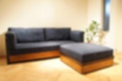 オーダー家具,オーダーソファ,オーダーソファー,オットマン,インテリア,無垢