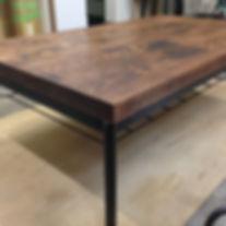 オーダー家具,無垢,テーブル,再塗装