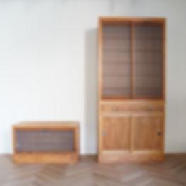 リメイク、建具、水屋箪笥、飾り棚