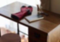 折り畳みデスク、オーダー家具、クルミ