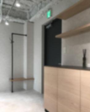 美容室 店舗内装 エントランス オーダー家具