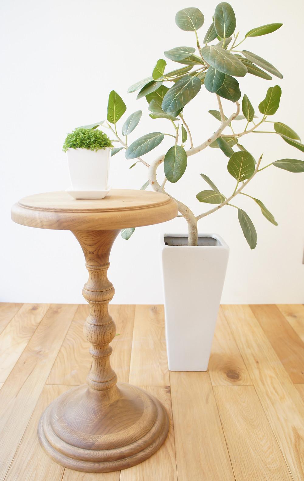 サイドテーブル ナラ 無垢