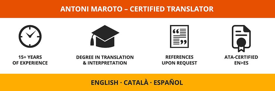 English – Inglés – Anglès – Català – Catalan – Catalán – Español – Spanish – Espanyol