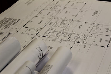 This is a pictureof house plans used by our designers to design trusses.