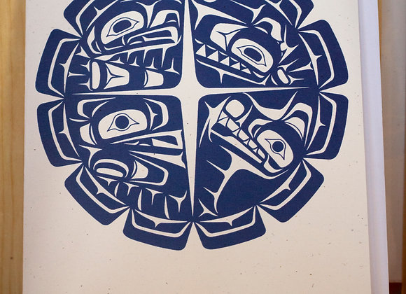Four-Clan by K. Michielssen (set of 5 cards)