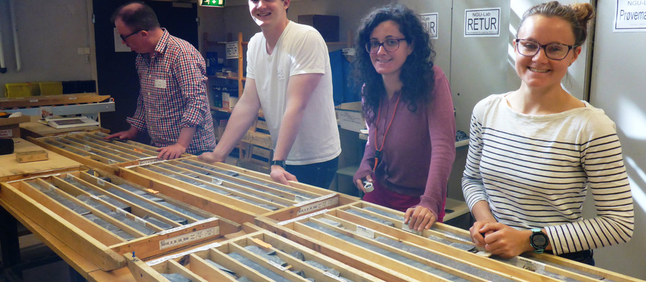 Sampling Precambrian rocks from the FAR-DEEP cores at Norway Geological Survey