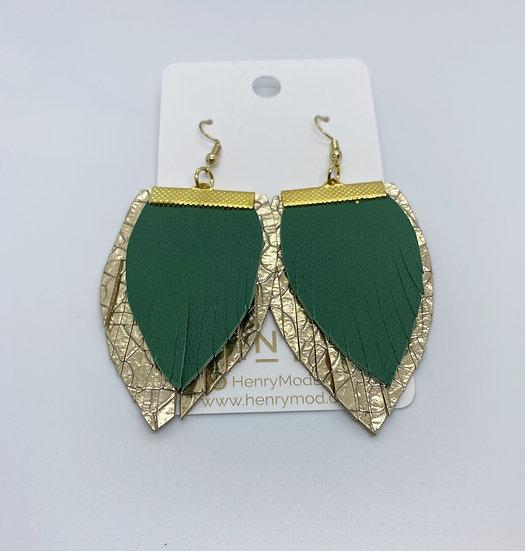 Winston - Emerald Green & Gold Crackled