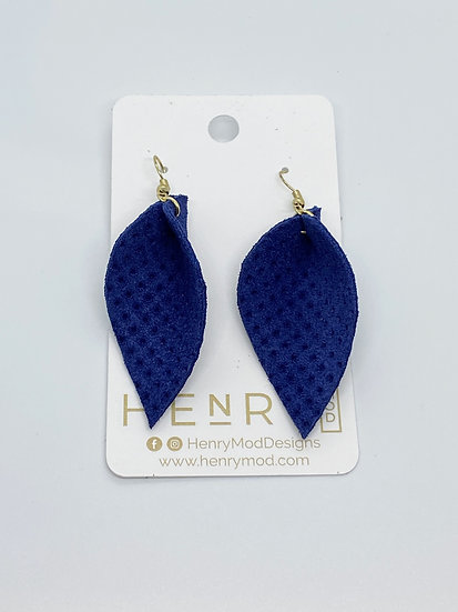 Nyla Jean - Royal Blue Textured Suede