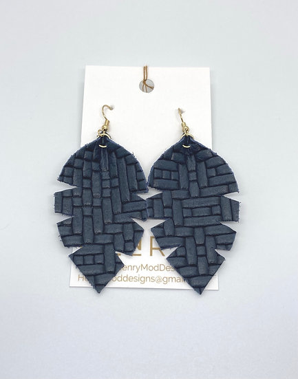 Alixandir  small - navy blue weave
