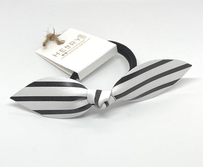 Marley Hair Tie - black stripe
