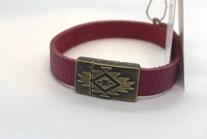 """Brian Wrap Bracelet - raspberry (7.5"""")"""