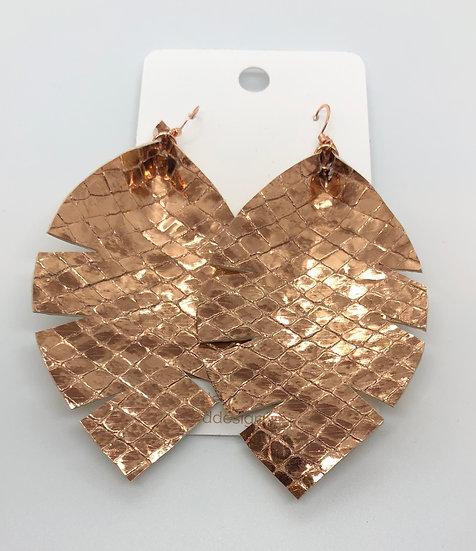 Alixandir - Rose Gold Metallic Snakeskin