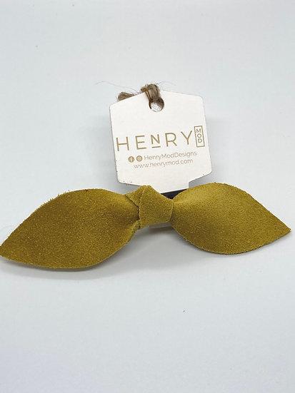 Marley Hair clip - mustard suede