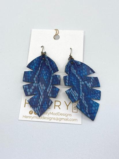 Alixandir  small - blue snakeskin