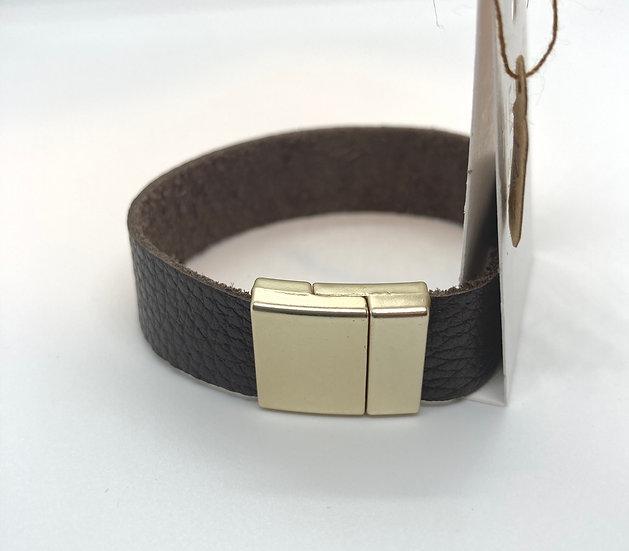 "Brian Wrap Bracelet - brown leather (7"")"
