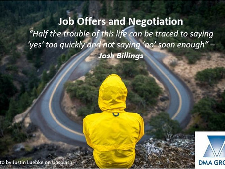 What to do when you Receive a Job Offer - the Negotiation Process