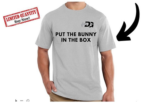 """Men's Short Sleeve """"Put the bunny in the box"""""""