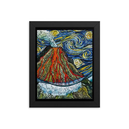 """Volcano"" - King Tide Triptych - Framed poster"