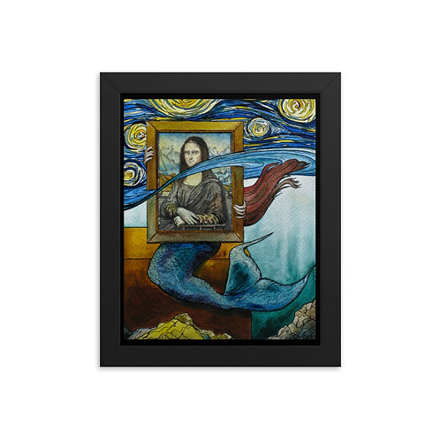 """Mermaid"" - King Tide Triptych - Framed poster"