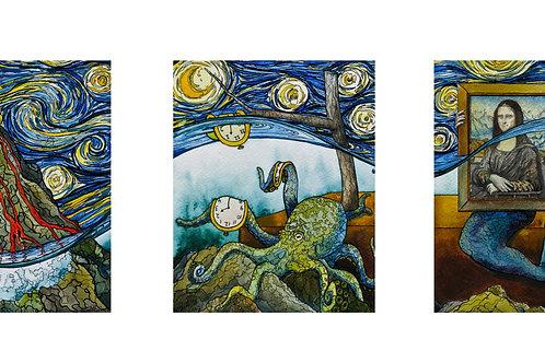 """""""King Tide"""" Triptych"""