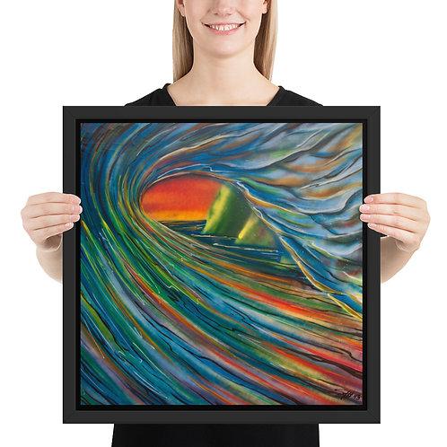 """""""Napali Wave"""" - Framed poster"""