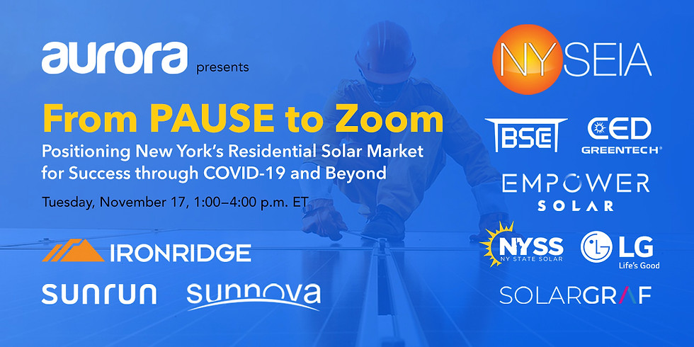 From PAUSE to Zoom: Positioning New York's Residential Solar Market for Success through COVID-19 and Beyond