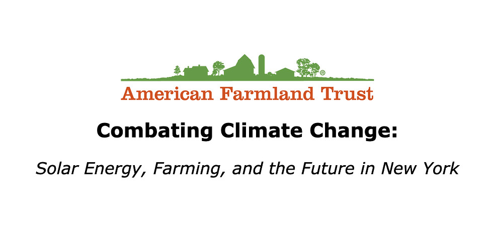 Combating Climate Change: Solar Energy, Farming, and the Future in New York