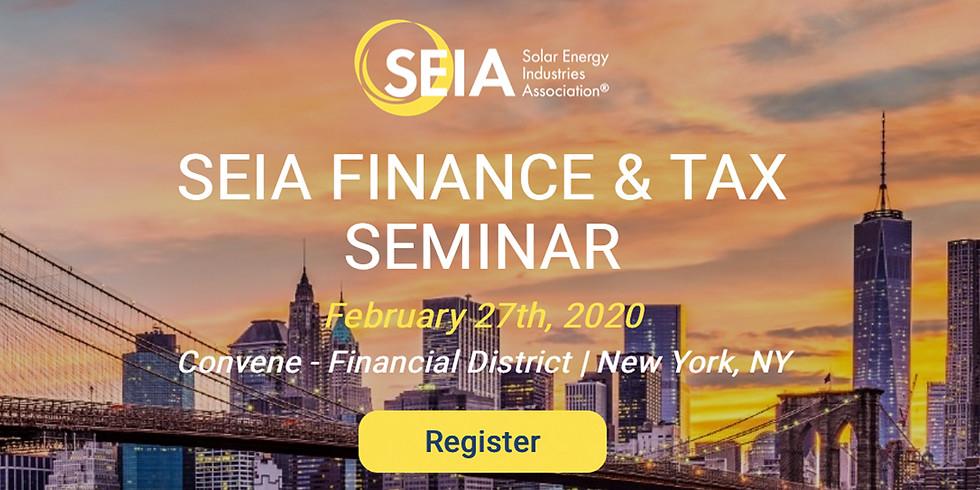 SEIA Finance & Tax Seminar