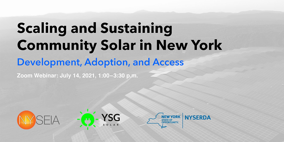 Scaling and Sustaining Community Solar in New York State