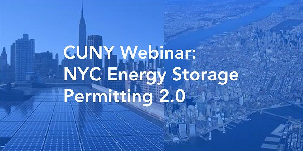 CUNY Webinar: NYC Energy Storage Permitting 2.0