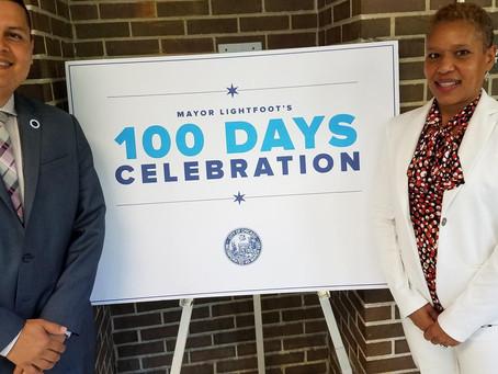 Duana Love, PE attended Mayor Lightfoot's 100 days in office celebration