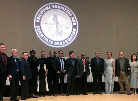 Duana Love at the Philippine Engineers and Scientists Organization's 46th Anniversary Gala