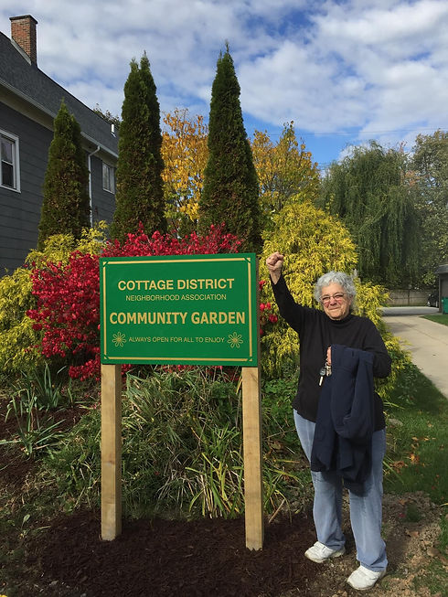 Cottage District Community Garden Sign.j