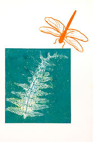 Dragonfly and Fern, monoprint.jpg