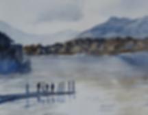 Lake District, Derwent Water, watercolou