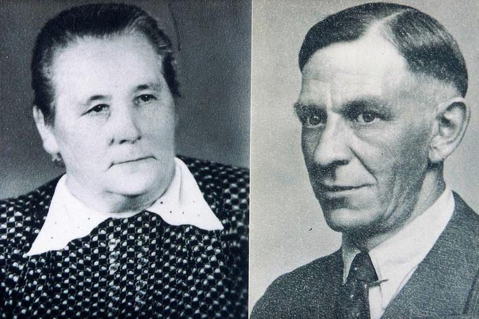 Friedrich Gaide und Ehefrau Phillipine, Phillipine, geb. Konze