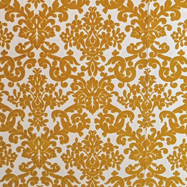 gold floral felt flow