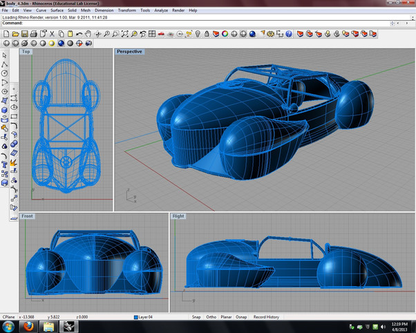 3D Modeling with Rhino 4.0
