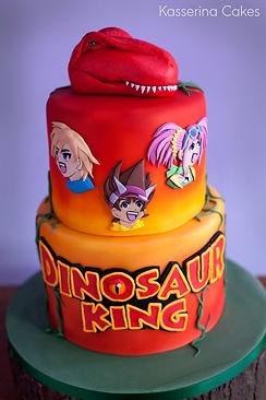 dino dinosaur cake kids birthday cake kid's cake, dinosaur king, 2d, 3d, characters