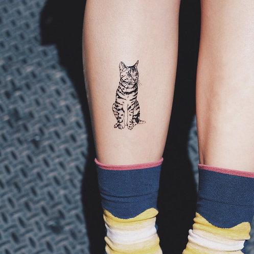 cottontatt bengal leopard cat illustration temporary tattoo sticker