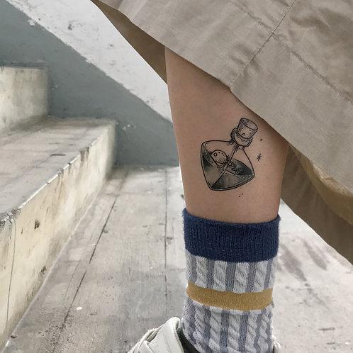 cottontatt magic potion illustration temporary tattoo sticker