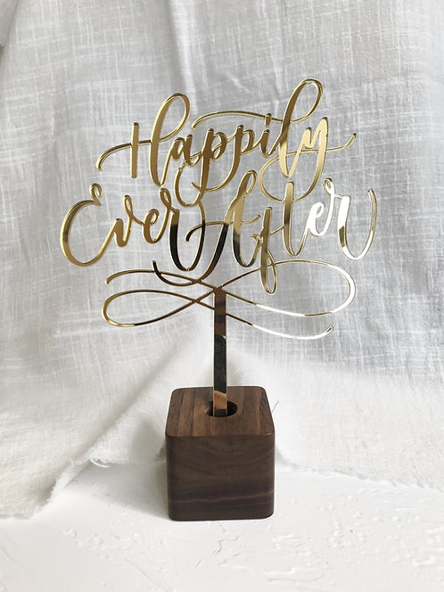 wood stand for cake topper