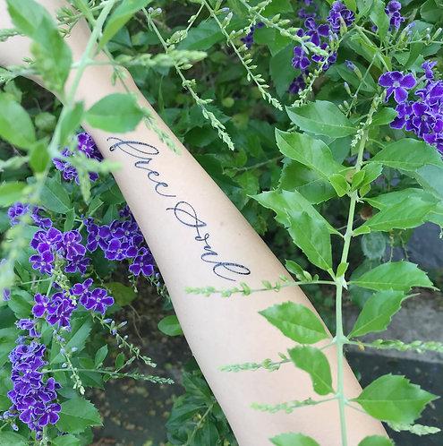 "cottontatt ""free soul"" calligraphy temporary tattoo sticker"
