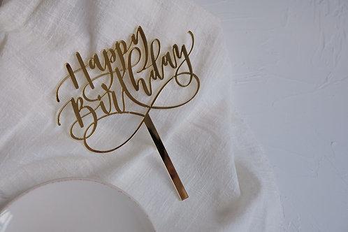 """""""Happy Birthday"""" cake topper"""