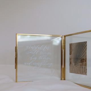bi-fold brass photo frame