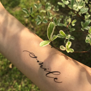 """smile"" cottontatt temporary tattoo"