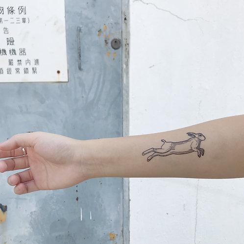 cottontatt rabbit illustration temporary tattoo sticker