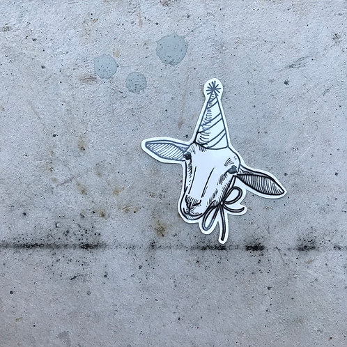 cottontatt party sheep illustration temporary tattoo sticker